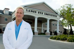 Dr. Michael Lange in front of The Lange Eye Institute in The Villages Florida. The Dry Eye Capital!