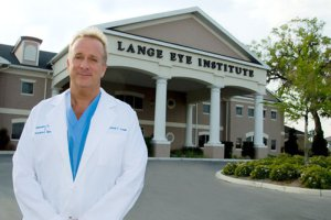 Dr. Michael Lange in front of The Lange Eye Institute in The Villages Florida, home of the dry eye!