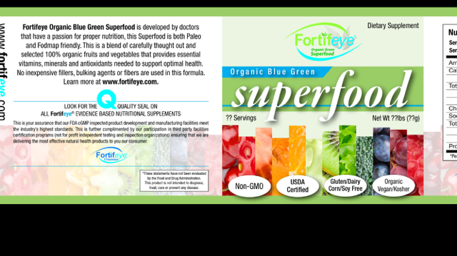 Blue green Superfood